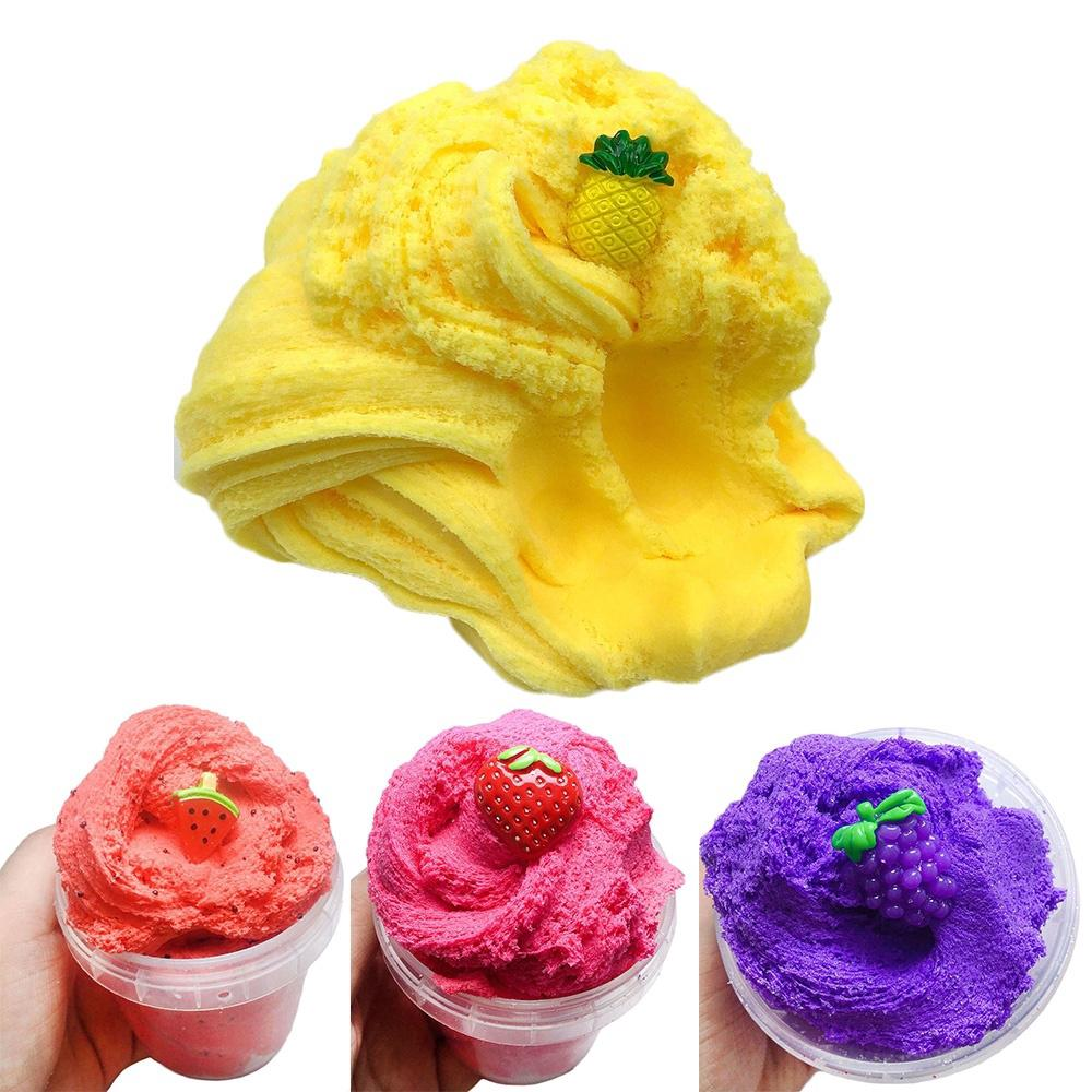 60/100/150ml Kids Toys Scented Watermelon Strawberry Fruit Charm Floam Sludge Fluffy Slime Mud Cloud Clay
