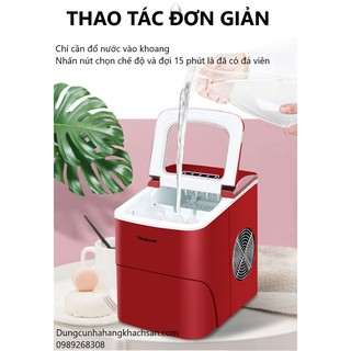 Máy làm đá viên công nghệ Đức Watoor- 15 kg- Bảo hành 1 năm- Dùng cho nhà hàng, khách sạn, hộ gia đình hay quán cafe nhỏ thumbnail