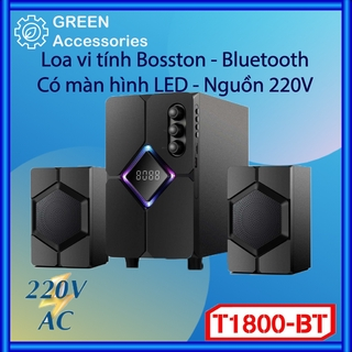 Loa Bluetooth 2.1 Bosston T1800-TB – Thẻ Nhớ, USB Màn Hình đèn LED Nguồn 220V – BH 12 Tháng