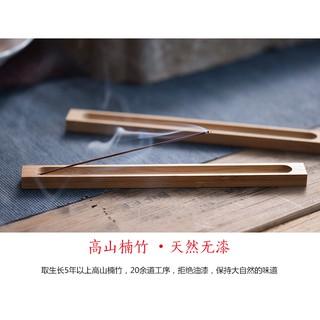 Đế cắm nhang gỗ tre tự nhiên - hình 2