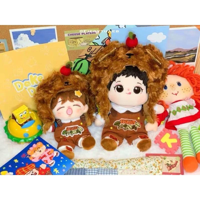 Set Gấu Caramel cho doll 20cm