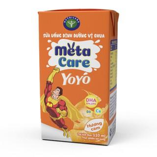 Thùng sữa uống dinh dưỡng vị chua Nutricare Metacare Yoyo Hương Cam (110ml x 48 hộp)