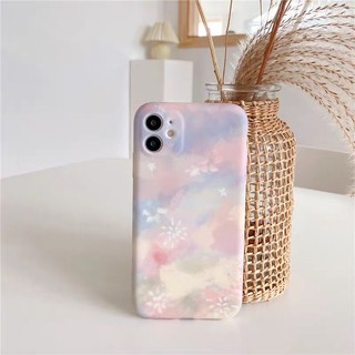 Có sẵn ốp iphone 11 hoạ tiết pastel hoa màu nước