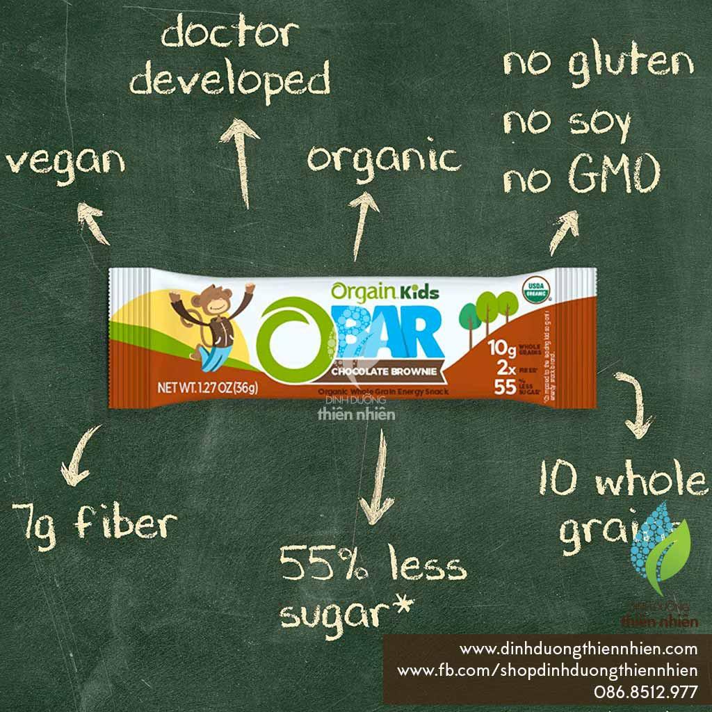 [TRẺ EM] Thanh Bánh Dinh Dưỡng Hữu Cơ Giàu Chất Xơ & Protein Thực Vật,Orgain Organic Kids Energy Bar, vị Chocolate Brow - 22554929 , 7702875534 , 322_7702875534 , 40000 , TRE-EM-Thanh-Banh-Dinh-Duong-Huu-Co-Giau-Chat-Xo-Protein-Thuc-VatOrgain-Organic-Kids-Energy-Bar-vi-Chocolate-Brow-322_7702875534 , shopee.vn , [TRẺ EM] Thanh Bánh Dinh Dưỡng Hữu Cơ Giàu Chất Xơ & Prote