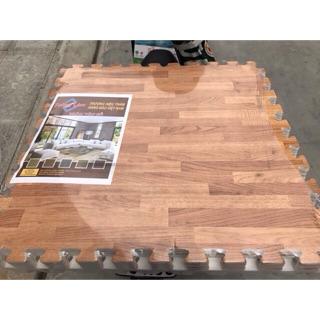 Thảm xốp vân gỗ 6 tấm 60x60cm hàng dày đẹp
