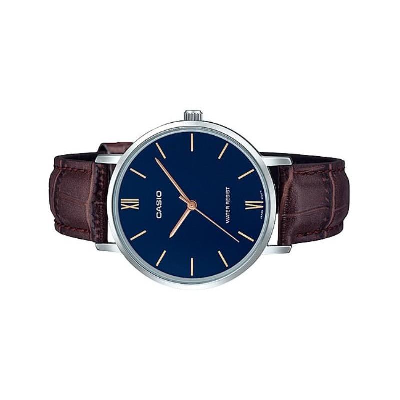 Đồng hồ nam dây da Casio MTP-VT01L-2B chính hãng