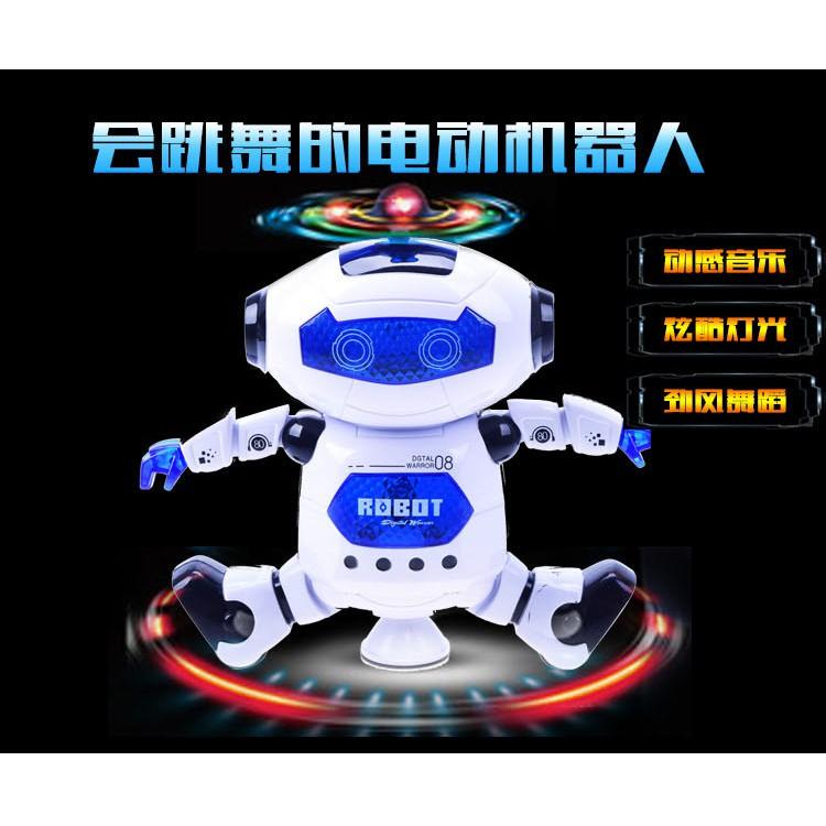 Đồ Chơi Robot Nhảy Múa Có Đèn Và Nhạc Cho Bé
