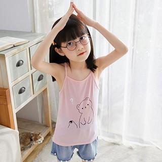 Áo 2 dây bé gái nhiều hình từ 9-25kg, Áo 2 dây vải cotton lạnh 4 chiều  sát nách cho bé gái từ 9-25kg