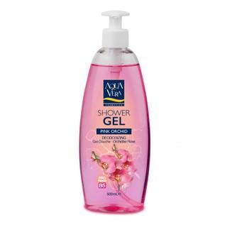 Bộ quà gel tắm dưỡng da Aquavera chiết xuất lan hồ điệp và oải hương 500ml/ 1 chai