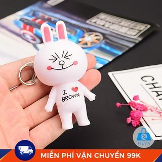 [Mã FASHIONRNK giảm 10k đơn từ 50k] Móc khóa siêu xinh Thỏ trắng đáng yêu 20PK thumbnail