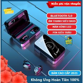 Tai nghe Bluetooth không dây MC5 Super Bass, cảm biến chạm, có mic, chống nước, mẫu tai phone blutooth 2021 hot