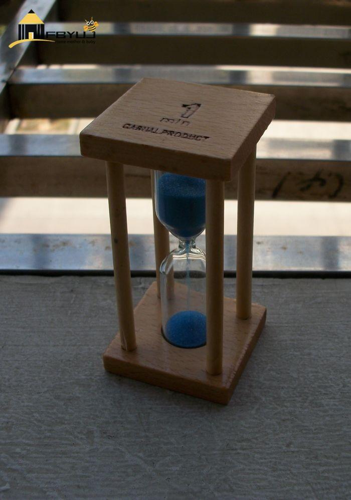 FBYUJ- Christmasbirthdaygiftsforchildrenkid Petit Carré Hêtre 1/3/5 Minute Sablier Minuteur Enfants Créatifs Brossage Entonnoir De Temps