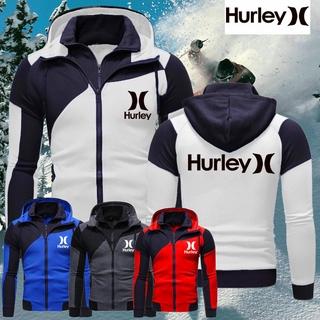 Áo Khoác Hoodie Hurley Phối Khóa Kéo Thời Trang Cho Nam