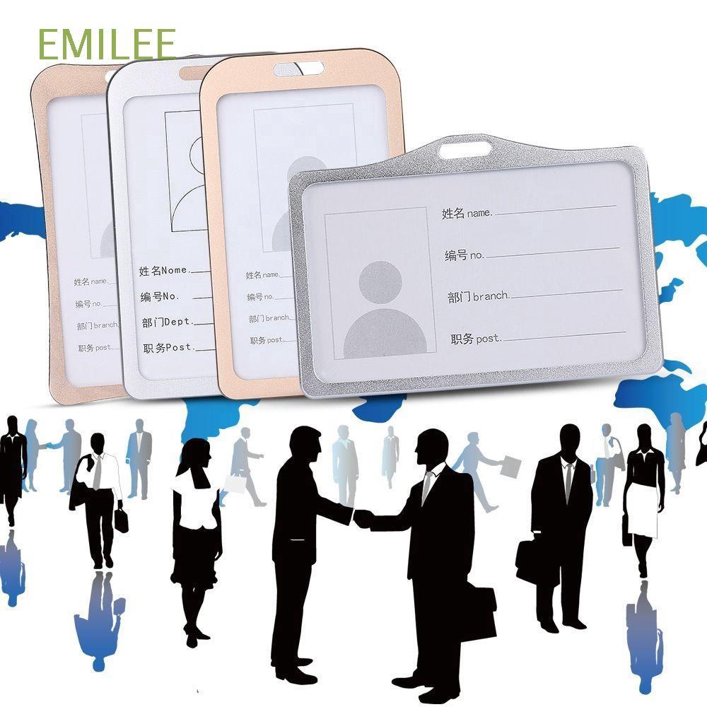 EMILEE Bao đựng thẻ tên bằng hợp kim nhôm tiện d