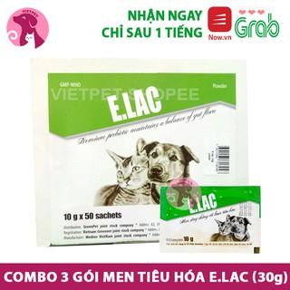 Combo 3 gói Men tiêu hoá ELAC cho chó mèo (Giúp thú cưng ăn ngon miệng & giúp tiêu hóa tốt) thumbnail
