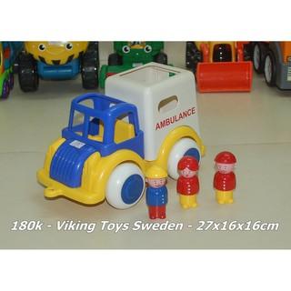 98% Bộ xe cứu thương Viking Toys (Sweden)