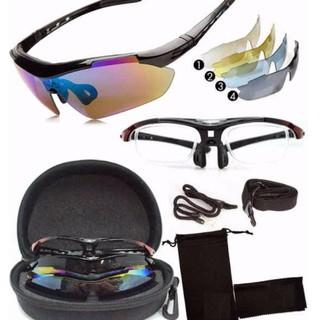 [Mã FASHIONRN15 hoàn ngay 15k xu đơn từ 99k] Bộ 5 mắt kính Oakley xe đạp thể thao thumbnail