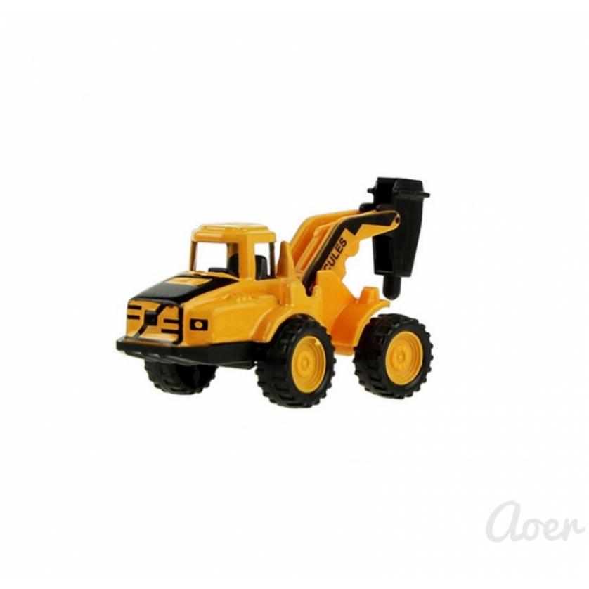 Aoer Children's toy sliding excavator alloy car model mini set engineering vehicle