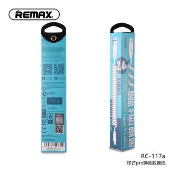 Remax RC-117a - Cáp Sạc Nhanh Type-C Lò Xo Xoắn
