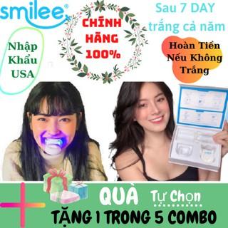(NOWSHIP-COMBO QUÀ TỰ CHỌN) Bộ Kít TẩyTrắng Răng Smilee làm trắng răng tại nhà sau 7 ngày.