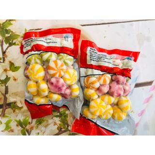 500g viên Bánh Bao hải sản nhân trứng cá hỗn hợp các màu