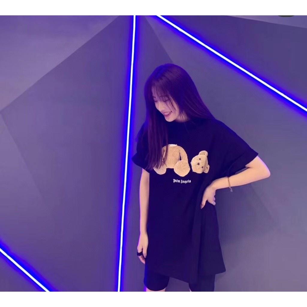 Áo thun trơn tay lỡ MICO nữ nam dáng Unisex form rộng Palm Angels gấu cute | SaleOff247