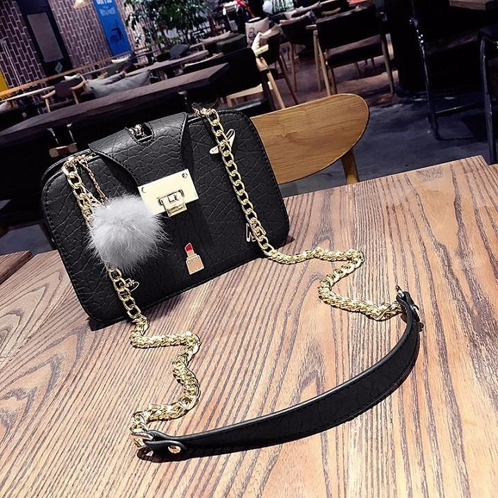 Túi xách nữ - Túi đeo chéo dây xích QC cao cấp - 2704525 , 1129209378 , 322_1129209378 , 260000 , Tui-xach-nu-Tui-deo-cheo-day-xich-QC-cao-cap-322_1129209378 , shopee.vn , Túi xách nữ - Túi đeo chéo dây xích QC cao cấp