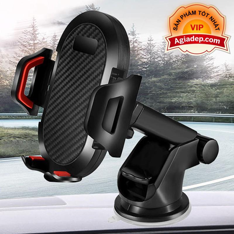 Giá đỡ điện thoại trên oto xe hơi (Có 2 chân hút + chân kẹp) Đa năng tiện dụng (chân đế, giá kẹp) hàng xịn (Cổ dài)