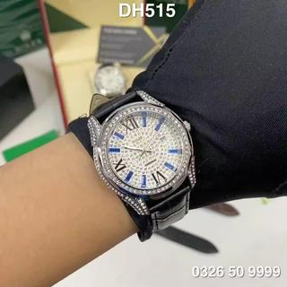 Đồng hồ nam RL đính full đá máy pin dây da cao cấp DH515