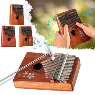 JX 17 Key Kalimba Mbira Calimba African Mahogany Thumb Piano Wood Musical Instrument