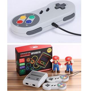 Bộ máy chơi game sper mini sfc nes 620 trò, chơi game cổ điển với tay cầm 4 nút. Máy chươi game phiên bản AV cao cấp thumbnail