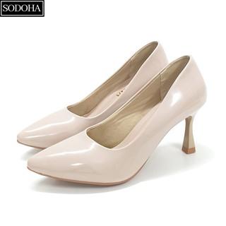Giày cao gót nữ , giày nữ thời trang SODOHA GN33999 Màu Kem thumbnail