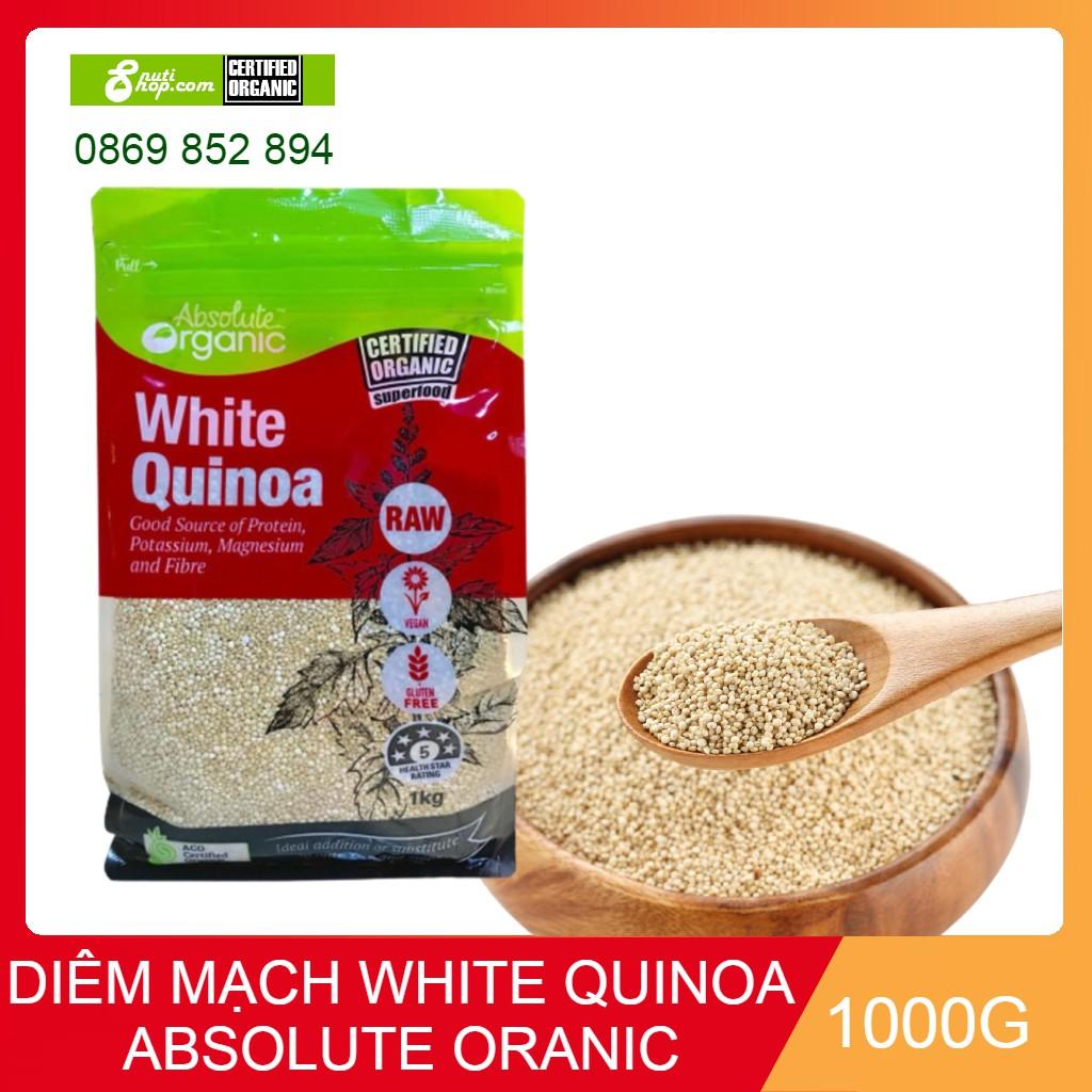 [Mã GROMST12 hoàn 8% đơn 199K] Hạt Diêm mạch trắng White Quinoa Absolute Organic 1kg