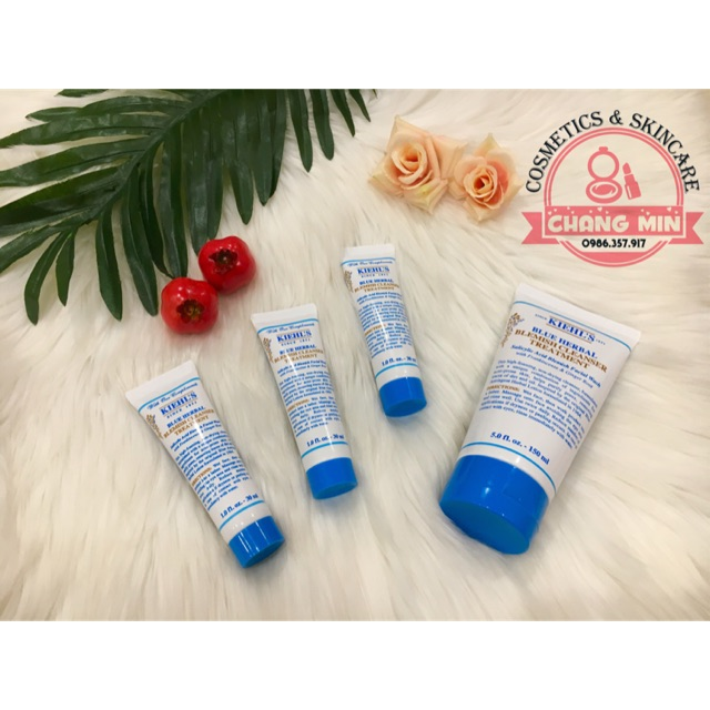 [MINI 30ML] SỮA RỬA MẶT TRỊ MỤN DẠNG GEL KIEHL'S BLUE HERBAL BLEMISH CLEANSER TREATMENT