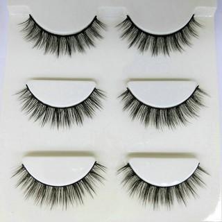Giá sỉ Mi Chồn , Lông Mi Giả Chồn 3D 3PCS 3 Fashion Eyelashes 3 Faux-Cils - bộ 3 cặp