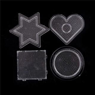 SUN55❤❤Fashion 4pcs/lot Square Round Star Heart Perler Hama Beads Peg Board Pegb