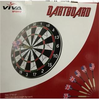 Bảng phóng phi tiêu cao cấp 02 mặt gỗ Dart Board ngoại cỡ big size 18 inches (đk 43cm, dày 2cm)
