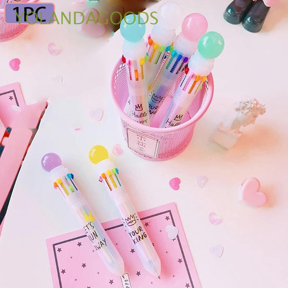 1PC Creative Cute Candy Color Transparent Multifunction Ballpoint Pen