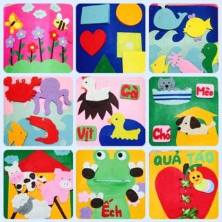 Sách vải handmade chủ đề kỹ năng, động vật ( hình thật)