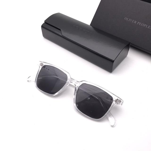 💝💖 Kính mát vuông thời trang nam nữ, có thể đeo đi đêm, thay mắt kính râm cận 3246 💝💖