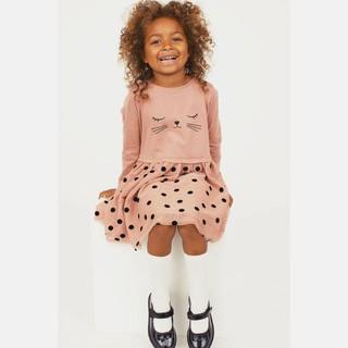 Váy bé gái váy thu đông cho bé chất cotton cực mềm thoáng mát thấm hút mồ hôi tốt