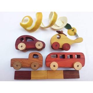 (BÁN CHẠY NHẤT) Set 4 xe oto đồ chơi bằng gỗ các bé cực mê