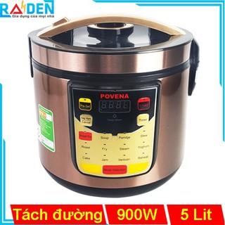 Nồi cơm điện tách đường 5L Povena PVN-SG1886 tích hợp sẵn 12 tính năng nấu