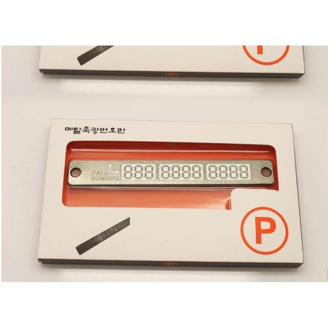 Thẻ đậu xe ô tô - Thẻ ghi số điện thoại khi đỗ xe trên ô tô