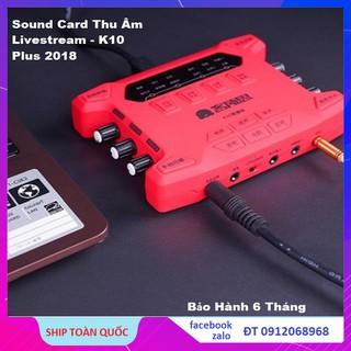 SOUND CARD XOX K10 PLUS BẢN NÂNG CẤP MỚI NHẤT TỪ KS108 VÀ K10 CŨ - K10 2018 ( Ảnh Thật - Chuẩn Như Hình ) thumbnail