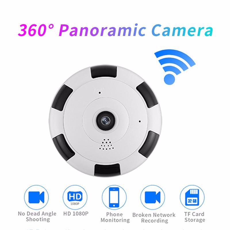 Camera V380 HD 1080P CCTV không dây wifi góc rộng 360 cảm biến CMOS có tầm nhìn đêm cho gia đình