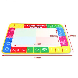 Water Painting Drawing Writing Board Mat Magic Pen Doodle For Baby Kids Toy Gift
