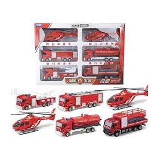 Bộ 6 xe sắt cứu hoả
