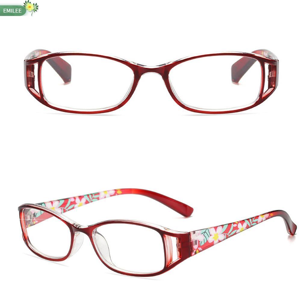 EMILEE💋 Women Anti-Blue Light Eyeglasses Elegant Ultra Light Frame Reading Glasses Portable Fashion Flowers Comfortable Vintage Eye Protection/Multicolor
