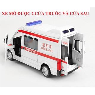 Xe cứu thương RMZ city car tỉ lệ 1:36 mô hình đồ chơi trẻ em